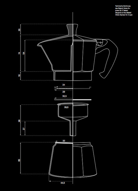 Blueprint Del Bialetti The Perfect Little Espresso Maker