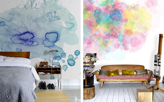 Watercolor Wall Art watercolor wall | volatizing the esters