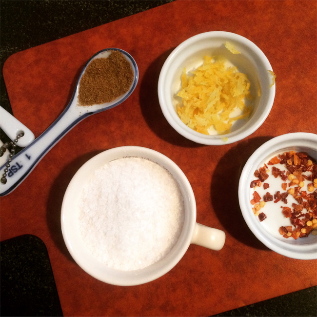 Citrus Cumin Salt Ingredients